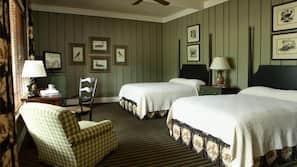 Egyptian cotton sheets, pillowtop beds, desk, blackout drapes