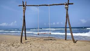 전용 해변, 백사장, 비치 파라솔, 비치 타월