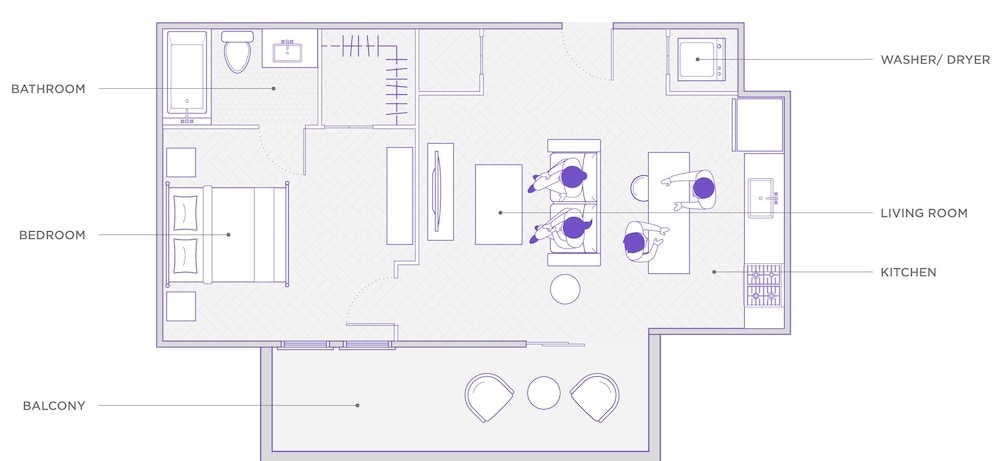 Floor plan, Domio Monte Carlo