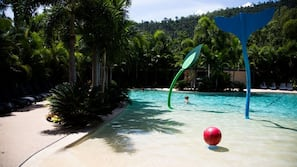 Outdoor pool, open 7:00 AM to 7:00 PM, sun loungers