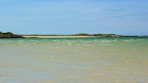 Private beach, white sand, snorkelling, beach yoga