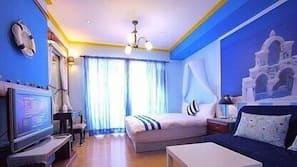 高級寢具、設計自成一格、窗簾、免費 Wi-Fi