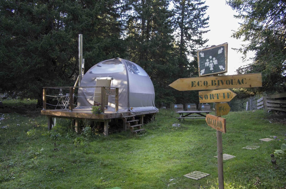 Courtyard, Eco Bivouac Village D'Igloo - Campground