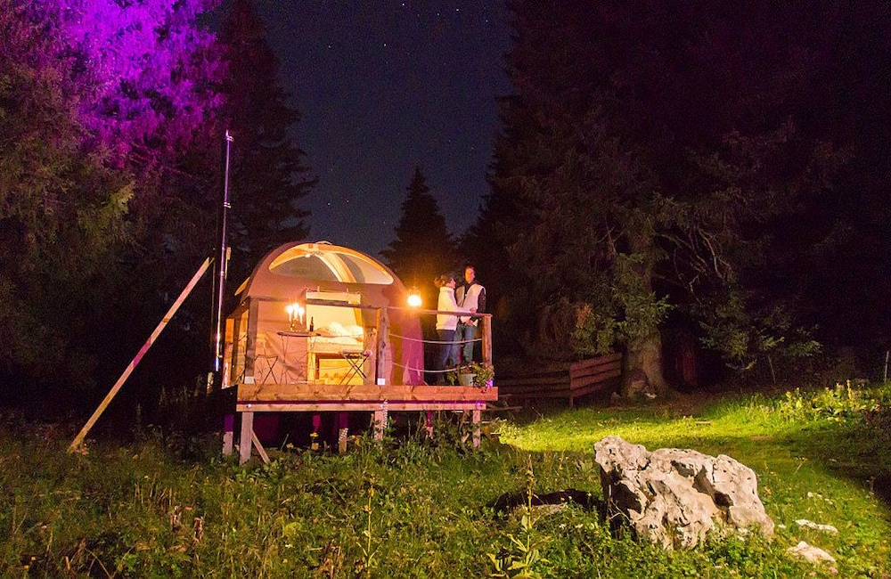 Front of Property - Evening/Night, Eco Bivouac Village D'Igloo - Campground