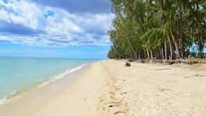 Beach nearby, white sand