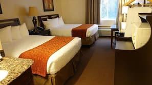 Premium bedding, blackout curtains