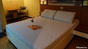 Premium bedding, memory-foam beds, soundproofing, free WiFi