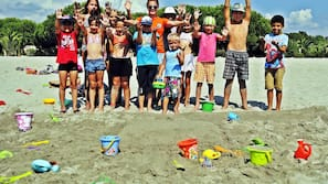 Beach nearby, beach volleyball