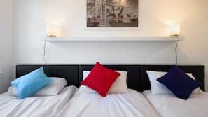2 bedrooms, premium bedding, memory-foam beds, in-room safe