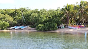 On the beach, snorkelling, kayaking, rowing
