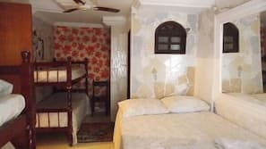 Individually decorated, iron/ironing board, rollaway beds