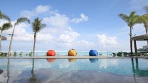 室外泳池;小屋 (收費)、泳池傘