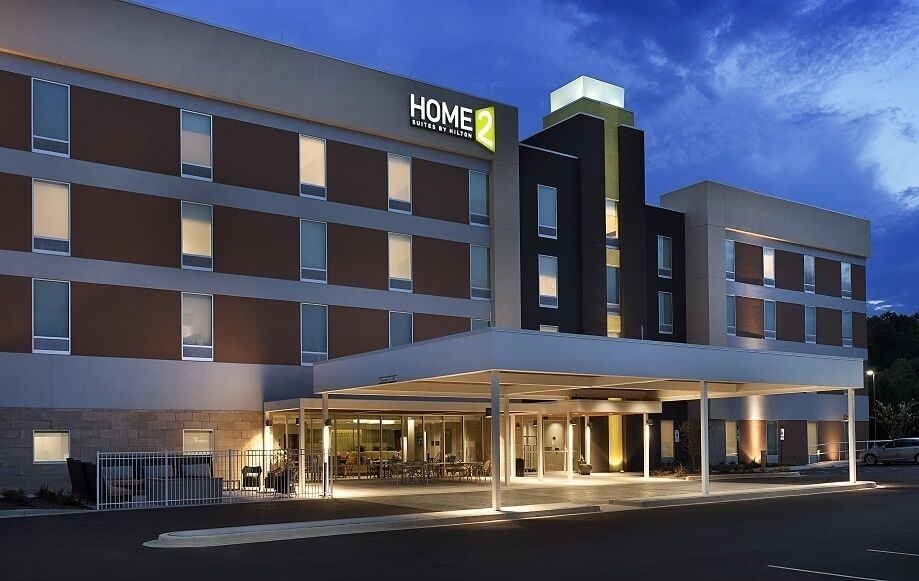 Front of Property - Evening/Night, Home2 Suites by Hilton Greenville Airport
