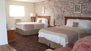 Premium bedding, pillow-top beds, blackout curtains, soundproofing
