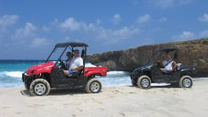 Beach nearby, white sand, surfing, sailing