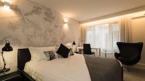 Premium bedding, free minibar items, in-room safe, iron/ironing board