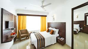Blackout curtains, soundproofing, iron/ironing board, rollaway beds