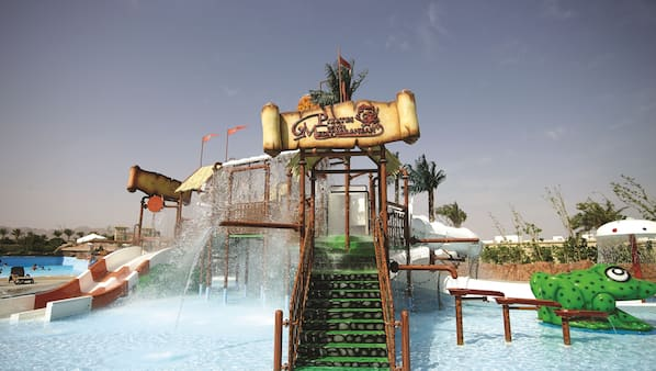 2 outdoor pools, open 8:00 AM to 5:00 PM, pool umbrellas, sun loungers