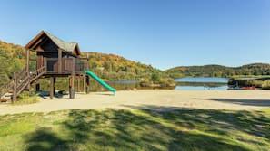 Private beach, beach volleyball, kayaking