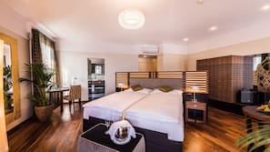 Kostenlose Minibar, Zimmersafe, Bügeleisen/Bügelbrett, kostenloses WLAN