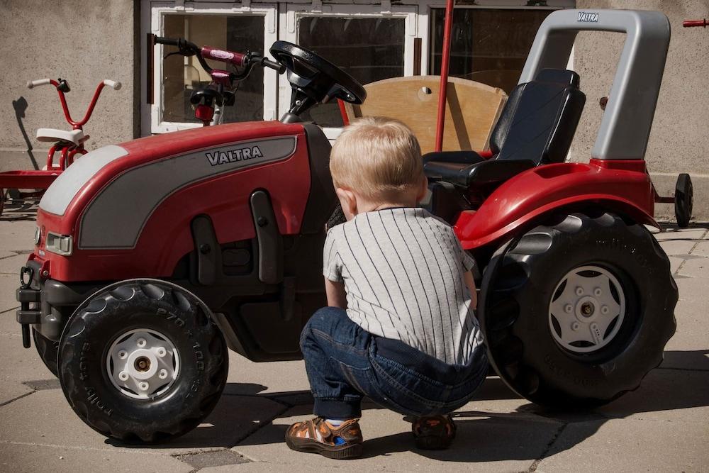 Traktor for stor toaletten