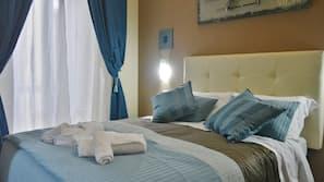 1 chambre, draps italiens Frette, literie de qualité supérieure