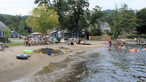 Private beach nearby, white sand, fishing