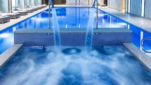 2 indoor pools, open 6:30 AM to 10:00 PM, sun loungers