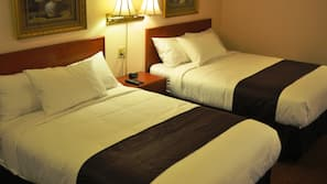 2 bedrooms, individually furnished, desk, blackout drapes