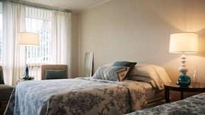 Premium bedding, free WiFi, linens
