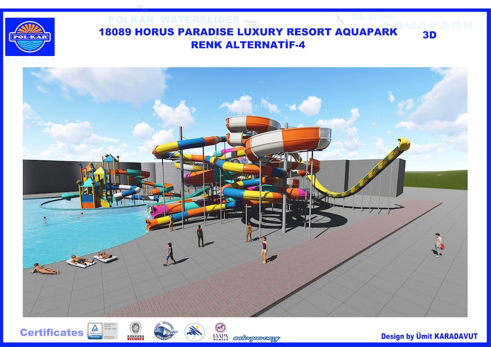 Waterslide, Horus Paradise Luxury Resort - All Inclusive
