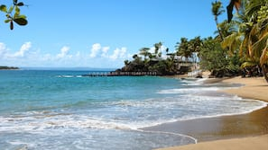 Private beach, beach massages, scuba diving