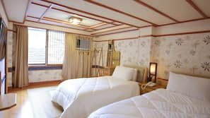 Individually decorated, blackout curtains, free WiFi, bed sheets