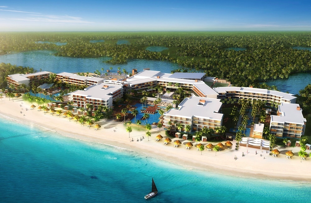 Aerial View, Breathless Riviera Cancun Resort & Spa