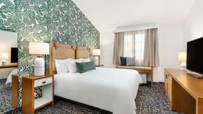 Premium bedding, pillow-top beds, minibar, desk