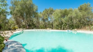 Piscine extérieure, piscine naturelle