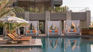 Indoor pool, outdoor pool, free cabanas, pool umbrellas