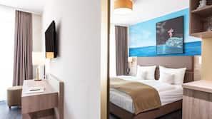1 Schlafzimmer, hochwertige Bettwaren, Zimmersafe, individuell dekoriert