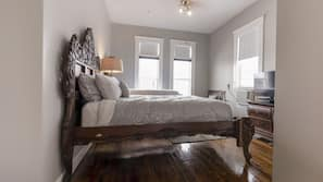 1 bedroom, memory foam beds, individually decorated