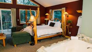 1 bedroom, Egyptian cotton sheets, premium bedding, down duvet