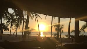 Private beach, sun-loungers, snorkelling
