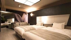 羽絨被、設計自成一格、家具佈置各有特色、免費 Wi-Fi