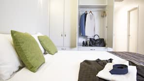 Premium bedding, minibar, desk, laptop workspace