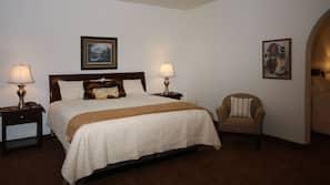 Memory foam beds, blackout drapes, iron/ironing board