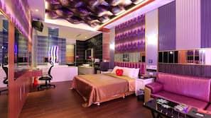 Individually decorated, individually furnished, blackout drapes