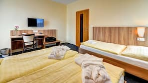 In-room safe, blackout drapes, soundproofing, cribs/infant beds