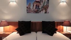 1 slaapkamer, een kluis op de kamer, geluiddichte muren