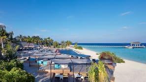 Private beach, scuba diving, beach volleyball