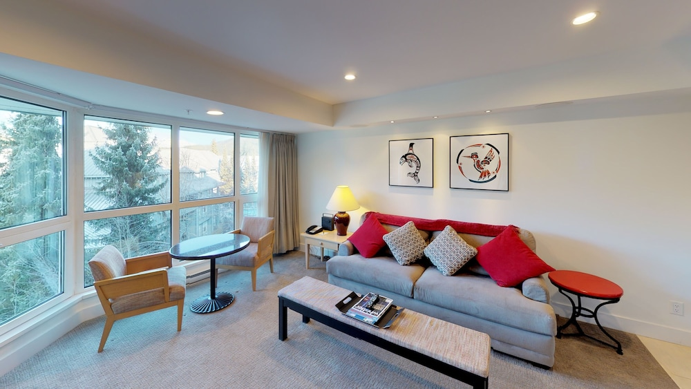 Living Room, Le Chamois by Whistler Premier