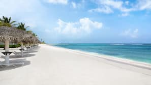 Private beach, white sand, free beach shuttle, free beach cabanas